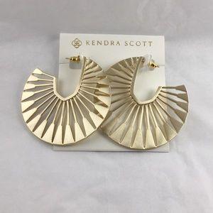 Signed Kendra Scott Deanne Gold Hoop Earrings